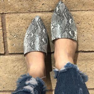 Shoes - SAVANNAH Snake Print Mules
